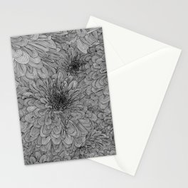 Linework Zinnias Stationery Cards