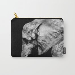 Elephant Portrait BW Carry-All Pouch