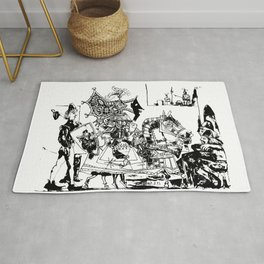 Pablo Picasso, Jeux de pages (Pages Games), 1951, Artwork Reproduction, Design for Men, Women, Kids Rug