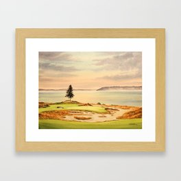 Chambers Bay Golf Course 15th Hole Framed Art Print