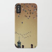 fitzgerald iPhone & iPod Cases featuring Innumerable wandering balloons by Emma Fitzgerald