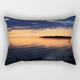 Sunset by the Lake Rectangular Pillow