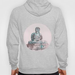 Peace and Harmony watercolor buddha pastel illustration Hoody