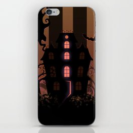 Be it ever so Haunted, there's no place like Home - Brown iPhone Skin