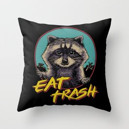 Eat Trash Throw Pillow