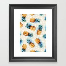 Pineapples + Crystals  Framed Art Print