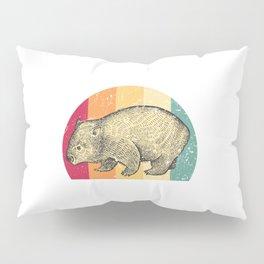 Wombat Retro Pillow Sham