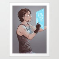 tony stark Art Prints featuring Tony Stark by MaliceZ