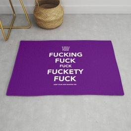 Fucking Fuck Fuck Fuckety Fuck- Purple Rug