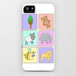 Kiddies puzzle pieces prints iPhone Case