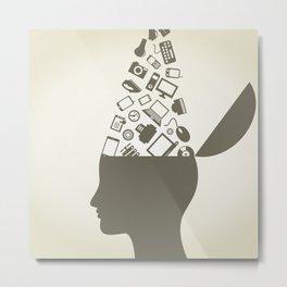 Head idea Metal Print
