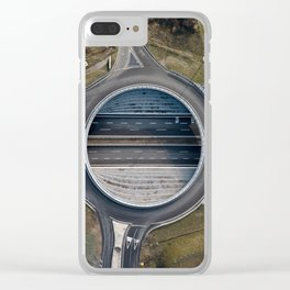 Elevated roundabout Clear iPhone Case