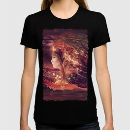 Shadow Of A Thousand Lives - Digital painting - Manafold Art T-shirt