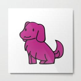 The Purple Pup Metal Print