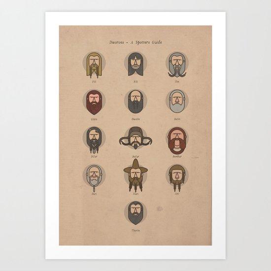 Dwarves - A Spotters Guide. Art Print