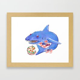 Carrot Cake Shark Framed Art Print