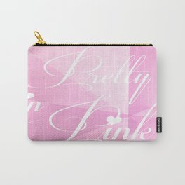 Pretty in Pink.  Carry-All Pouch