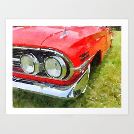 Classic Red - photowatercolor Art Print