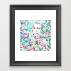 Rose Lady, Light Floral Patch Framed Art Print