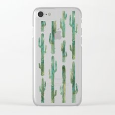 Green Cactus Clear iPhone Case