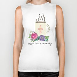 Coffee, Christ & Creativity Biker Tank