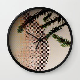 monkey tail tree with big cone Wall Clock