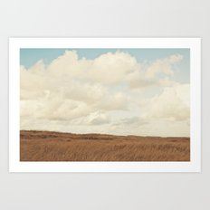 Clouds over the Field Art Print