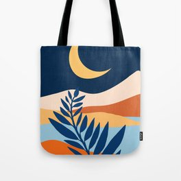 Moon + Night Bloomer / Mountain Landscape Tote Bag