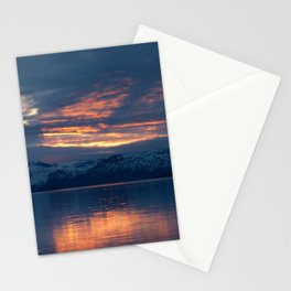 lights on the fjord Stationery Cards