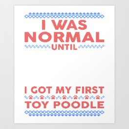 Toy Poodle Ugly Christmas Sweaters Art Print