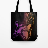 guardians of the galaxy Tote Bags featuring GUARDIANS OF THE GALAXY by Jorge Daszkal