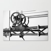 techno Canvas Prints featuring Techno? by Let's make it happen