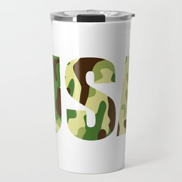USA khaki camouflage sign Travel Mug