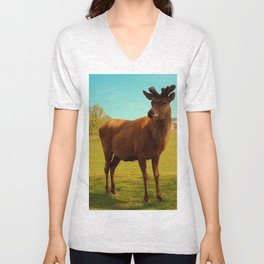 Young Deer (Cervidae) Unisex V-Neck