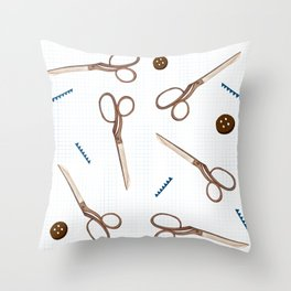 snappy scissors Throw Pillow