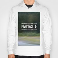 namaste Hoodies featuring Namaste by Angela Fanton