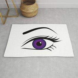 Violet Left Eye Rug
