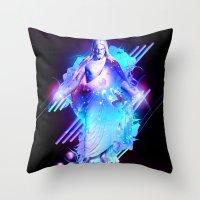 christ Throw Pillows featuring Cosmic Christ by Matt Bryson