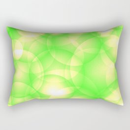 Gentle intersecting green translucent circles in pastel colors with a spring glow. Rectangular Pillow