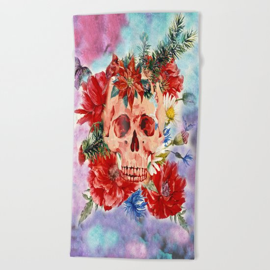 Skull Pattern Beach Towel