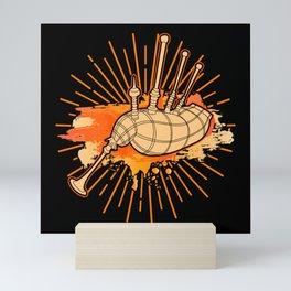 Bagpipe Mini Art Print