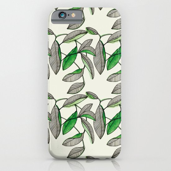 Watercolor Leaves iPhone & iPod Case