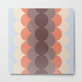 Gradual Blue Retro Metal Print