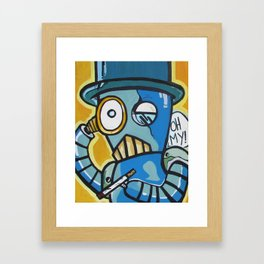 Monacle Bot Framed Art Print