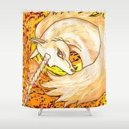 Otherworld Unicorns 6: Autumn Ether Shower Curtain
