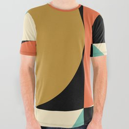 Mid Century Modern Geometric Abstract 235 All Over Graphic Tee
