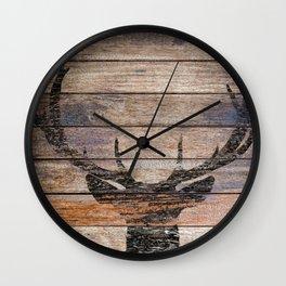 Rustic Black Deer Silhouette A311 Wall Clock