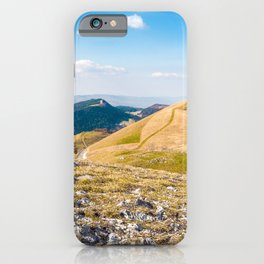 French rolling landscape hill mountain large panorama in summer iPhone Case
