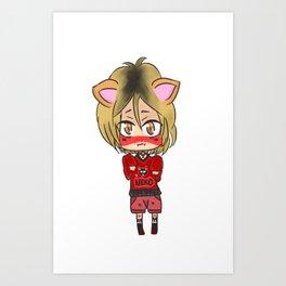 Nekoma Kitten! Art Print