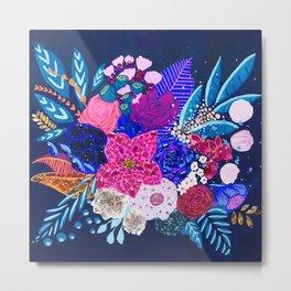 Jewel Bouquet Metal Print